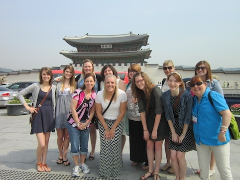 The College of Human Sciences offers study abroad options for students in all disciplines. Human development and family studies students visited South Korea to learn about family life. Contributed photo.