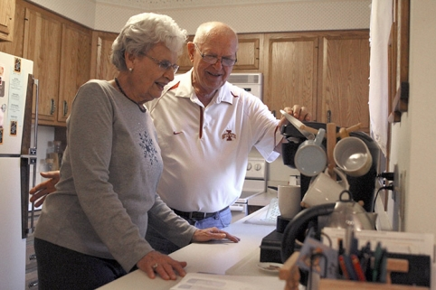 Social isolation is one problem facing older adults in rural areas, said Trudy Yoder, a resident at Green Hills Retirement Community in Ames. Yoder and her husband, Ralph, moved to Green Hills to have easier access to care and transportation. Photo by Blake Lanser.