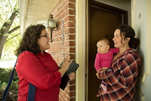 Iowa State researchers aim to improve the quality of home visiting programs through a statewide evaluation. Photo by Ryan Riley.