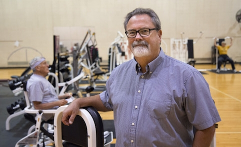 Rick Sharp is working with older adults to see if a combination of supplements and resistance training can slow the progression of sarcopenia. Photo by Christopher Gannon.
