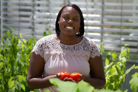 Shannon Coleman is a new assistant professor in food science and human nutrition who specializes in food safety. Her research includes identifying foodborne pathogens that could cause risk for fresh produce such as hydroponic tomatoes. Photo by Blake Lanser.
